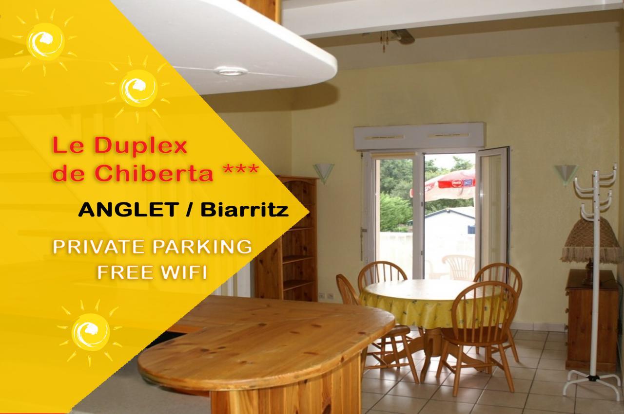 anglet superbe duplex 3 entre oc an et pin de 70m2 4 pers anglet location pays basque 64. Black Bedroom Furniture Sets. Home Design Ideas