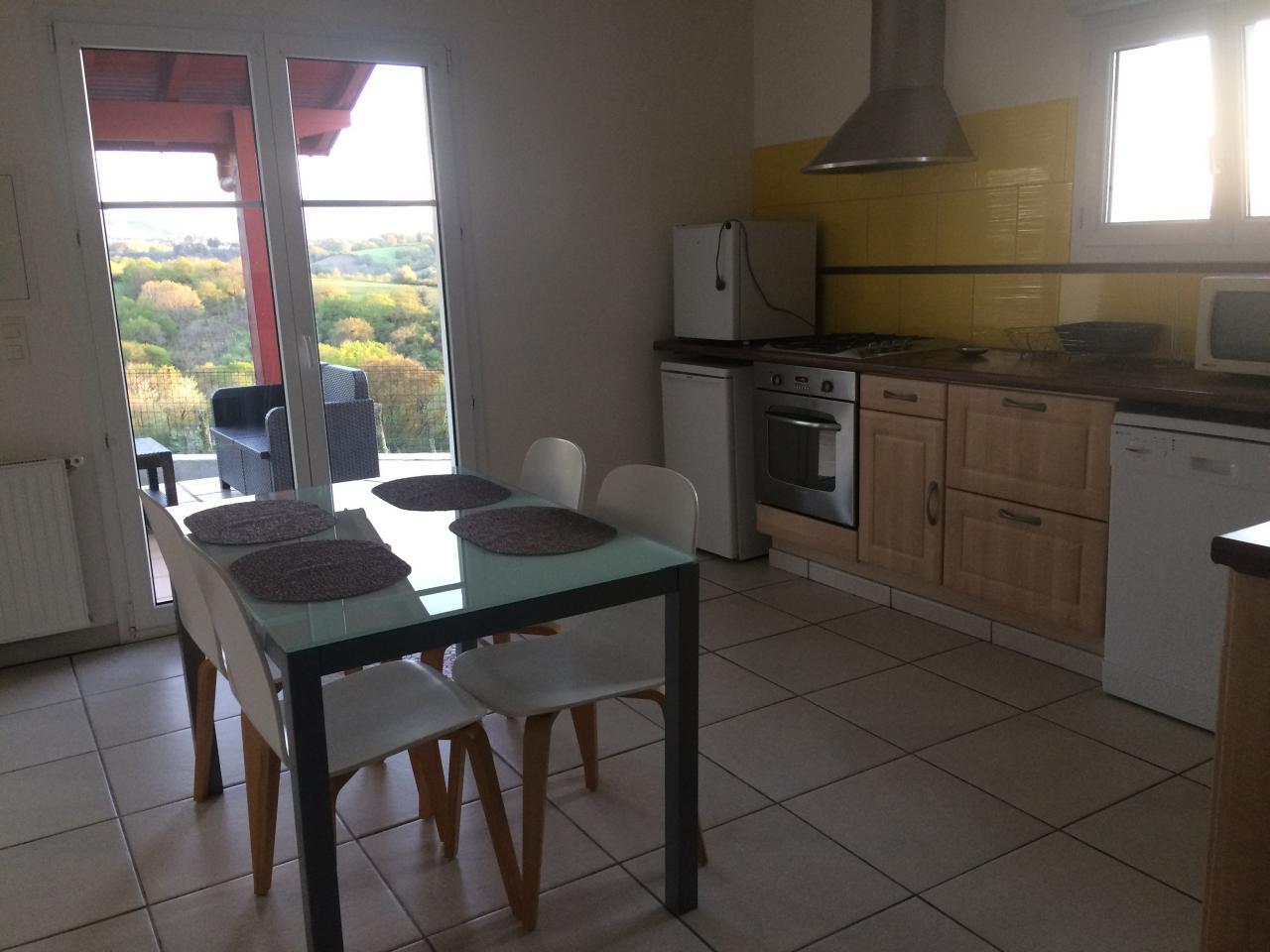 Appartement dans maison pour 4 personnes hasparren avec for Location appartement dans maison
